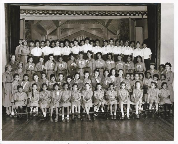 1957 Girl Scout and Brownie Troops at Garrison & Locust