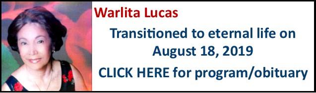 Funeral Notice-Warlita Lucas