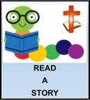 Kids Corner Button-Read A Story