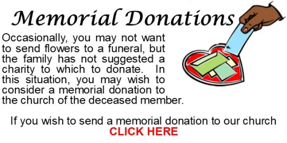 Memorial Offering Announcement