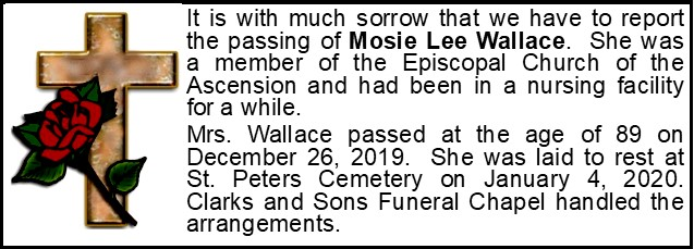 Funeral Announcement-Mosie Lee Wallace