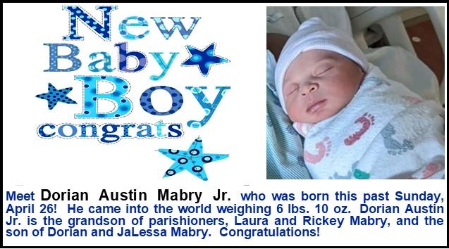 Mabry Grandson Birth Announcement