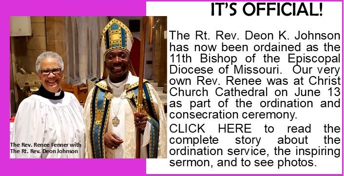 Bishop Deon Johnson Ordination Report Announcement