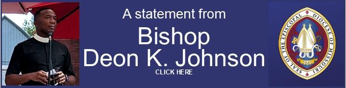 Bishop Deon Johnson Statement 06-05-20