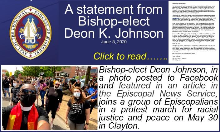 Bishop-Elect Johnson Statement-Protest March 6-5-20
