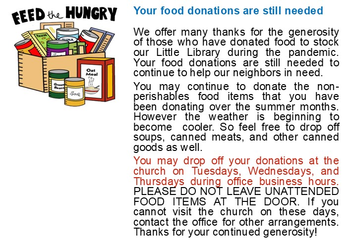 Food Pantry 2020 Food Drive - COVID 19 rev7