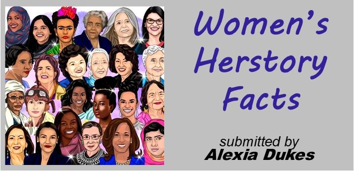 Women Herstery Fact-Title Clip Art