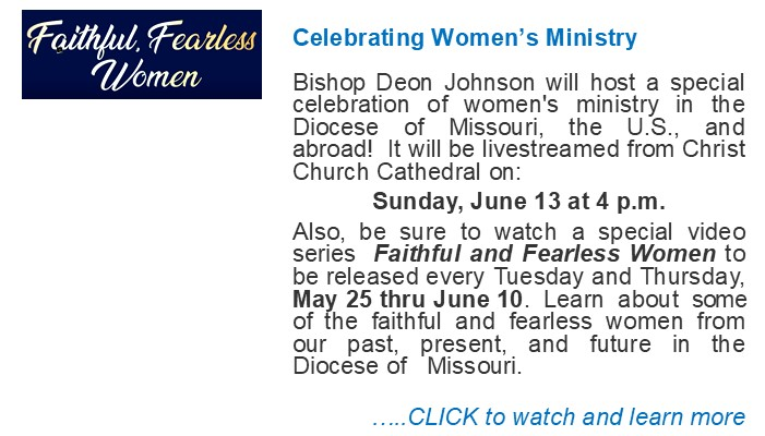 Celebrating Womens Ministry-Diocese 2021