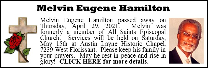 Funeral Announcement-Melvin Eugene Hamilton