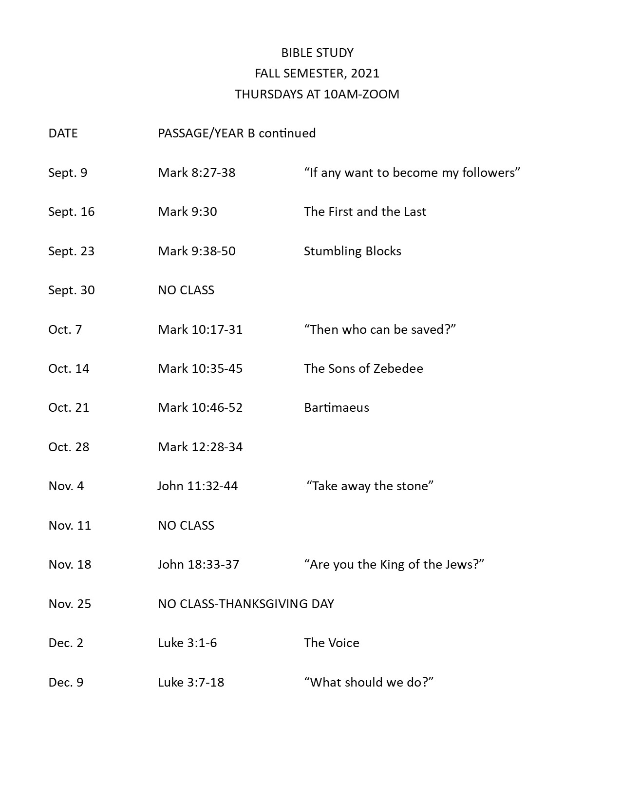 BIBLE STUDY Fall 2021 rev1
