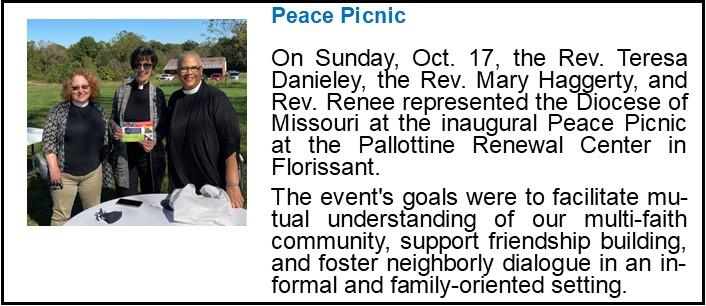 Interfaith Peace Picnic Announcement
